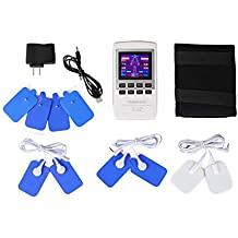JMung'S Elettrostimolatore Muscolare Grande Schermo a Colori LED Elettrodi Per I Massaggi A Impulso Eccezionale Per I Dolori Cervicali, La Sciatica E Per L'Indolenzimento Muscolare