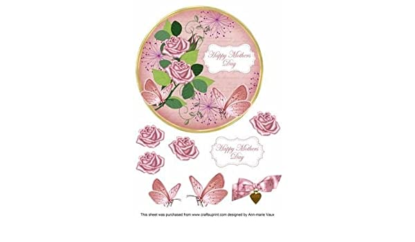 """DIE CUTS FOR CARDS//TOPPERS 10 /""""HAPPY MOTHERS DAY/"""" PRINTED T-SHIRTS"""