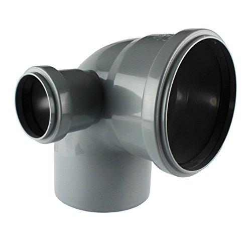 MKK - 19561-001 - HT 90° Bogen Einfach Doppel Abzweig DN 110 50 Abflussrohr Kanalrohr links