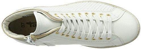 Tamaris 25216, Scarpe da Ginnastica Alte Donna Bianco (White/lt Gold 194)