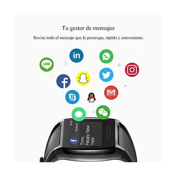 HalfSun Impermeable IP67 Smartwatch, HD Color Screen,Pulsera Inteligente con Pulsómetro, Monitor de Presión Arterial,Monitor de Calorías, Sueño, Podómetro,Pulsera Actividad para Android y iOS 8
