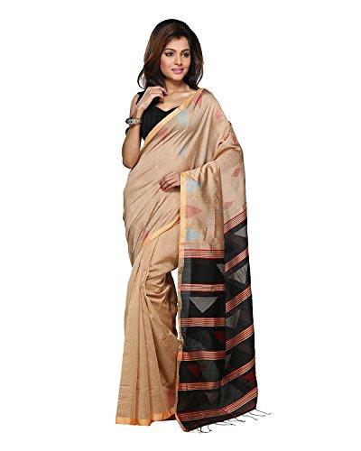 Bengal Handloom Saree Women's Art Silk With Blouse Piece (Hts30_Khaki)