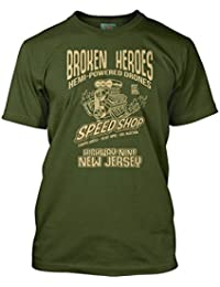 Bathroom Wall Bruce Springsteen Inspired Born To Run Broken Heroes, Men's T-Shirt