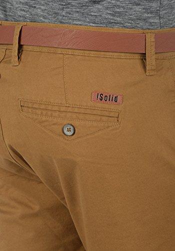 SOLID Montijo Herren Chino-Shorts kurze Hose Business-Shorts mit Gürtel aus hochwertiger Baumwollmischung Cinnamon (5056)