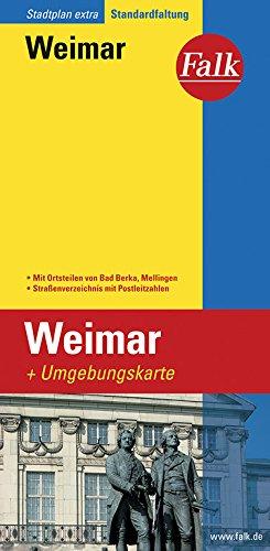 Falk Stadtplan Weimar, Extra Standardfaltung