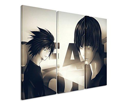 De impresión Death _ Ordenador _ Anime _ 3x 60x 30cm (total 100x 60cm) _ Acabado de Alta Calidad bastidor imagen sobre auténtico lienzo como Cuadro En Bastidor