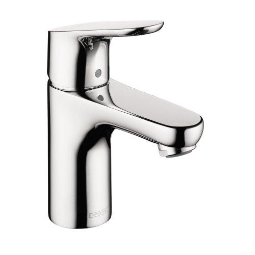 Hansgrohe 4371000Focus 100monoforo 1-handle basso Arc bagno rubinetto in cromo