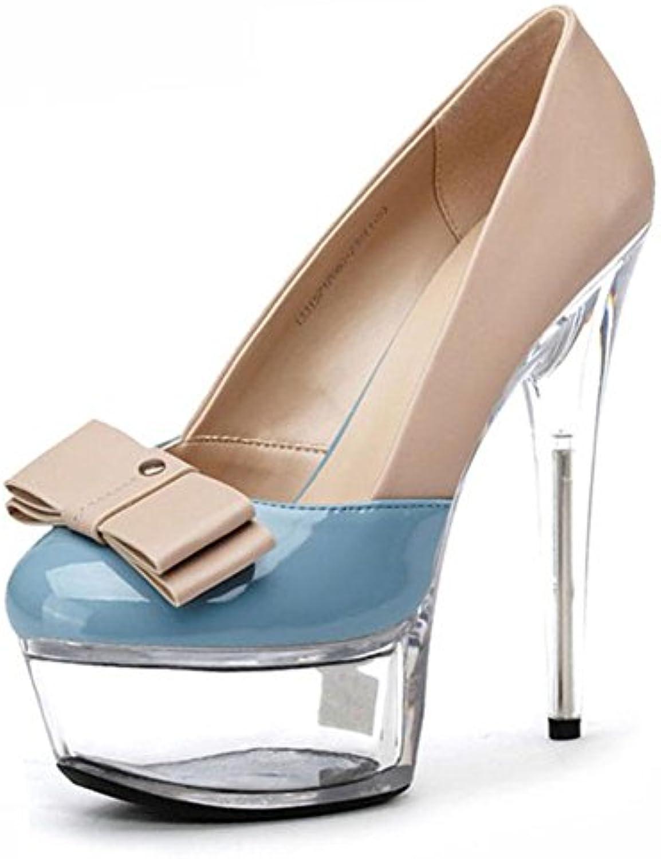 Talons La Hauts De La Talons Femme 17cm Minces avec Table éTanche Rondelle Bouche Boite De Nuit Chaussures En CristalB075HGCCDGParent 3c70dd