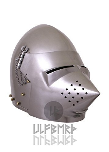 Ulfberth Capucha de Perro de 2mm Acero, Aprox. 1390 n. Chr Capacidad de Combate, Talla L Casco de Hierro...