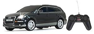 Jamara 400080 - Audi Q7 por control remoto en color negro a escala 1:24 importado de Alemania