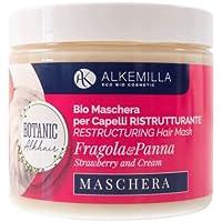 Maschera Capelli Ristrutturante Panna e Fragola 200 ml - Alkemilla