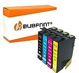 Bubprint 4 Druckerpatronen kompatibel für Epson 502 XL 502XL für Expression Home XP-5100 XP-5105 XP-5115 Workforce WF-2860DWF WF-2865DW Multipack