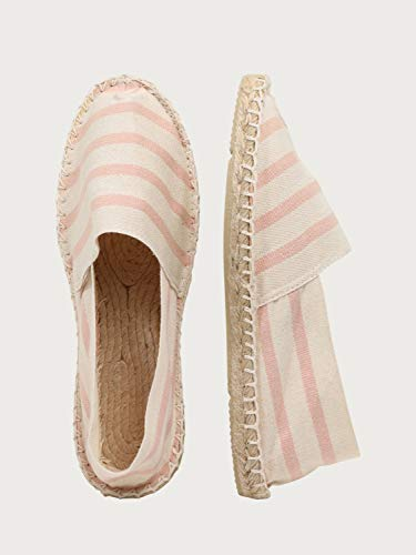 espadrij l´Originale Damen Espadrilles – rosa/weiß