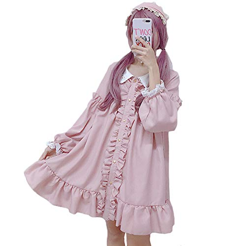 Kleid Dolly Kostüm - Himifashion Lolita Dress, Constellation Peter Pan Kragen Dolly Pink Dress Damen