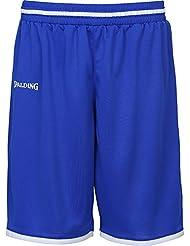 Spalding Move Short de Juego, Hombre, Azul Royal / Blanco, 152
