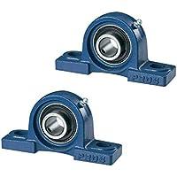 DOJA Industrial | Rodamientos con Soporte UCP 204 | Cojinetes de Bolas para Eje de 20mm | Pack de 2 unidades | Principales usos: Fresadoras, Impresora 3D, Bricolaje.