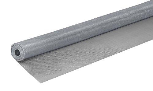 Windhager Insektenschutz Fliegengitter Gewebe Alu-Gitter, aus Aluminium, widerstandsfähig, ideal auch für Lichtschächte, für Fenster, Türen und Lichtschächte, silber, 120 x 250 cm, 03623