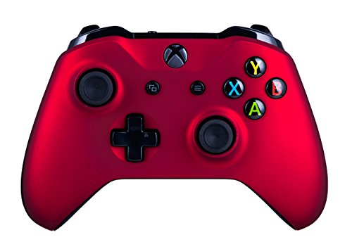 Xbox One Wireless Controller for Microsoft Xbox One - Soft Touch Red X1 - Added Grip for Long Gaming Sessions - Multiple Colors Available