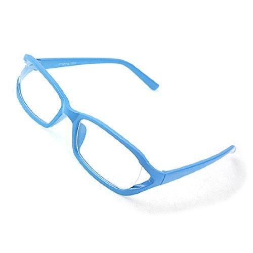 Sky Blue Volledige Rim Clear Lens plastic glazen brillen