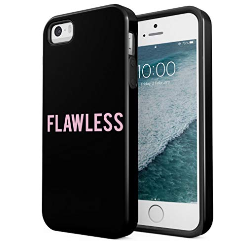Maceste Pink Flawless Compatible with iPhone 5 / 5s / SE Silicone Inner & Outer Hard PC Shell 2 Piece Hybrid Armor Case Cover (Iphone 5 Queen Bee)