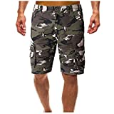 URIBAKY Combinaisons de Camouflage Multi-Poches d'été pour Hommes européens et...