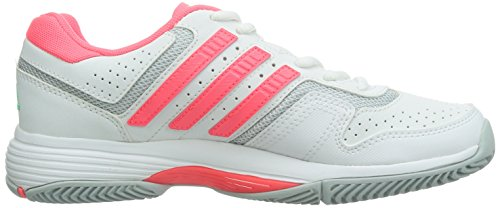 adidas Barricade Court, Scarpe da Tennis da Donna Weiß (Ftwr White/Flash Red S15/Clear Onix)
