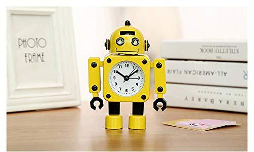 NM Houseweare Roboter Cartoon Kind Aufstehen Wecker Stille Nacht Licht Snooze Funktion Kleine Wecker
