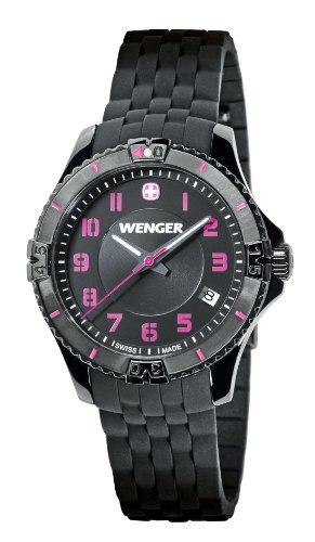 wenger - 010121105 - Montre Femme - Quartz Analogique - Bracelet Silicone Noir