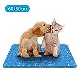 Nobleza - Alfombrilla refrescante para Mascotas Grandes. Auto refrigerante No tóxico. Ideal para para Perros, Gatos en Verano. 60 * 50 cm, Color Azul