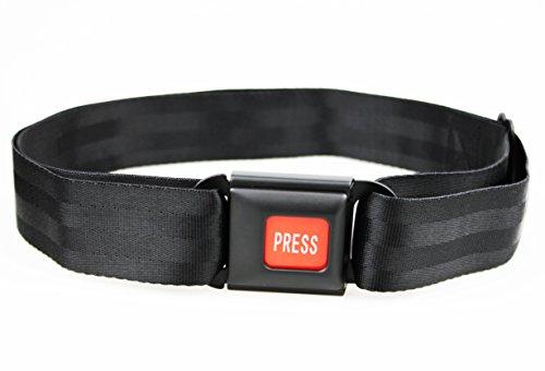 Preisvergleich Produktbild Hosengürtel mit US-Autoschnalle bis zu 110cm stufenlos verstellbar, Nylongürtel, Seatbelt, Carbelt, Autoanschnallgurt, Gurt, Gürtel, Sicherheitsgurt, hochwertiger Verschluss