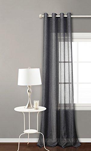 Cortina translucida con 8 ollao (1 unidad X 140x260) para salón, habitación y dormitorio. Cortina traslucida. Modelo Clara (GRIS MARENGO)