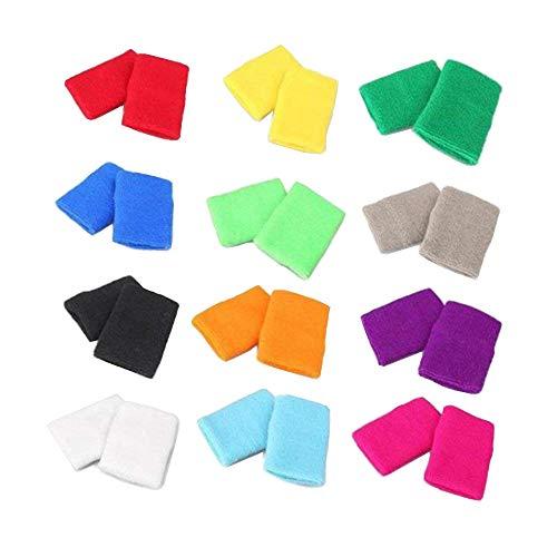 STONCEL 12 Pares Muñequeras algodón coloridas Pulseras