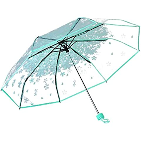 Ombrello pieghevole ombrello chiaro Cherry modello compatto Ombrelli per le