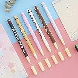 6 unids Animal lindo oso perro gato Chocolate palo gel pluma 0.5 mm bolígrafo color negro bolígrafos papelería oficina material escolar A6757