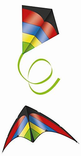 Unbekannt Paul Günther 1239 - Family Set Sportlenkdrachen mit Einleinerdrachen, Drachen und Flugspielzeug, schwarz/rot/blau/gelb/grün