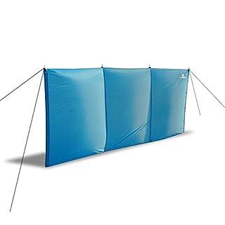 Strand-Windschutz Aeolus II, 3m x 1,3m von outdoorer inkl. Sandheringe, UV 60, leicht, kleines Packmaß - idealer Sichtschutz / Windschutz für Strand und Garten