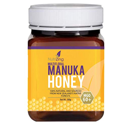 Preisvergleich Produktbild NutriZing's Manuka Honig 60+ ~ 100% Purer Neuseeland ManukaHonig ~ 500g Glas honey