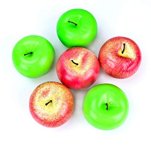 Äpfel, künstliche Äpfel, künstliche Früchte für Zuhause, Hausdekoration, 6er-Set ()