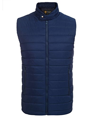Coofandy Men's Classics Slim Fit Casual Quilted Vest Warm Lightweight Gilet with Pocket
