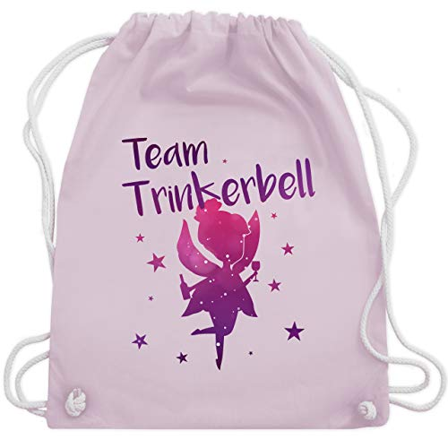 bschied - Team Trinkerbell - Unisize - Pastell Rosa - WM110 - Turnbeutel & Gym Bag ()