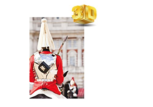3d lenticolare cartolina di royal guard at horse guards parade londra