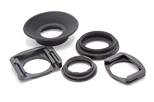 vhbw Set Tapas oculares plástico Negro para cámaras, DSLR Canon EOS 5000, 500N, 50D, 5D, 5D Mark II, 5D MarkI II, 600D, 60D, 620, 650D, 6D, 70D