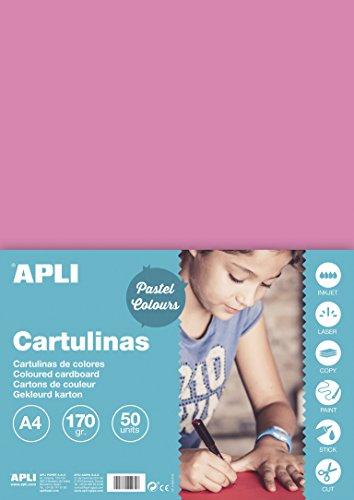 APLI 14235 - Cartulina rosa A4 170 g 50 hojas