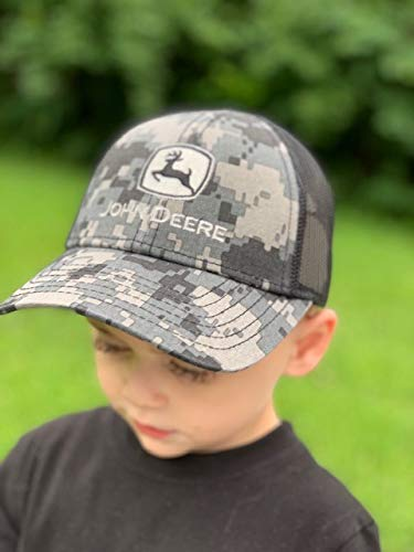 John Deere Toddler Kids Digi Camo Cap Meshback Cap-Black-Os
