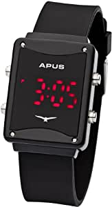APUS Epsilon Black Red AS-ES-BR Montre LED Point Culminant de Design