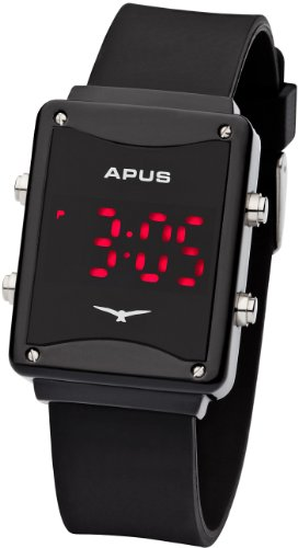APUS Epsilon Black Red AS-ES-BR LED Uhr Design Highlight