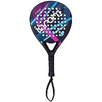 ianoni Pala de Pádel Raqueta para Pop Tenis Marco de Fibra de Carbono con Núcleo de EVA y Foam para Principiantes y Jugador de Nivel Medio (Modelo PR630)