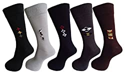 RC. ROYAL CLASS SOFT COTTON FORMAL SOCKS FOR MEN (PACK OF 5)