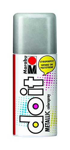 Papier-kunststoff-korb (Marabu 21074006782 - Do it Colorspray Metallic, 150 ml, metallic-silber)