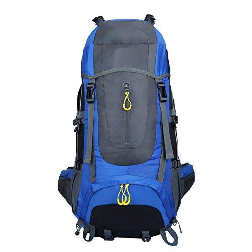 65L Im Freien Bergsteigen Taschen Wandern Rucksack,DarkBlue Blue